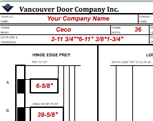 Vancouver Door Machine Sheet Instruction
